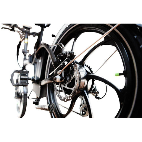 Joulvert Mercer - Folding Electric Bike - Rear Wheel