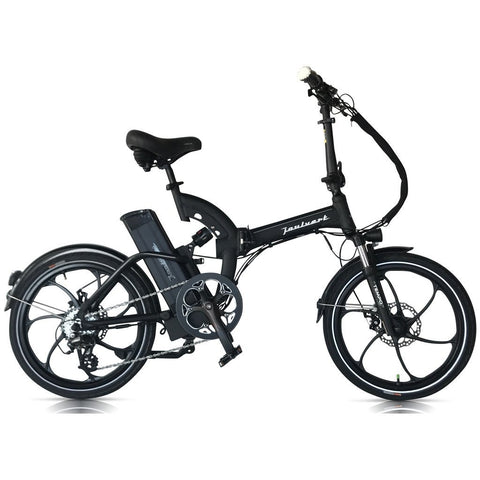 Black Joulvert Mercer - Folding Electric Bike - Side View