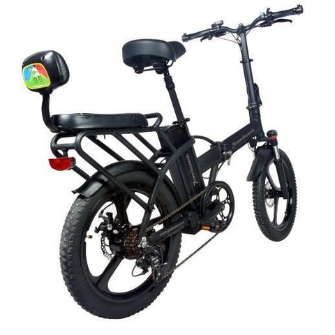 Joulvert Playa Journey Pro - Folding Electric Bike - Rear View