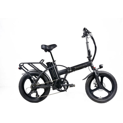 Black Joulvert Playa Journey Pro - Folding Electric Bike - Side View