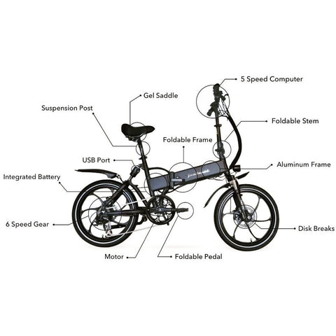 Joulvert Stealth - Folding Electric Bike - Details