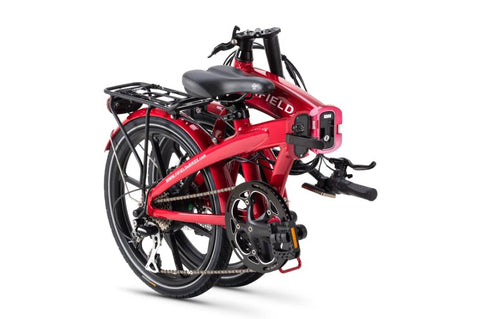 Red Fifield Jetty 4.0 - Folding Electric Bike - Folded