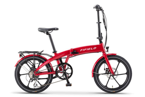 Red Fifield Jetty 4.0 - Folding Electric Bike - Side View