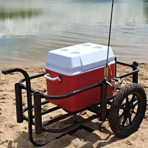 Rambo Bikes - Aluminum Fishing Cart - With Cooler in it