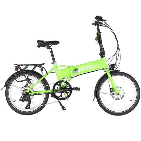 Green Enzo eBikes - Folding Electric Bike - Side View