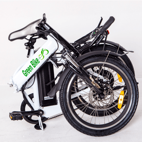 White Green Bike USA GB1 - Folding Electric Bike - Folded
