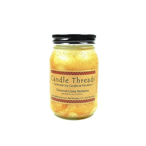 Candle Threads | 16oz Coconut Lime Verbena Soy Candle