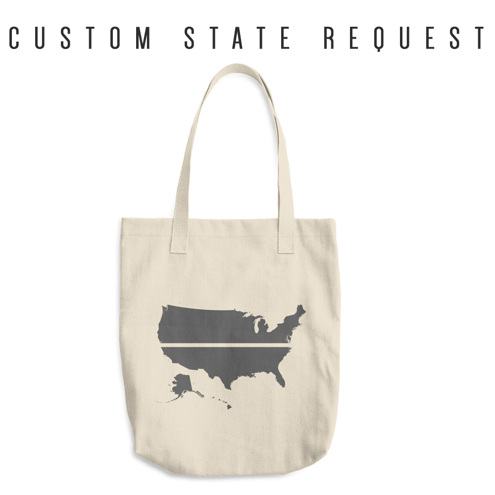 YOUR STATE BLUE SAVES / CUSTOM REQUEST / Cotton Tote Bag / made in the USA
