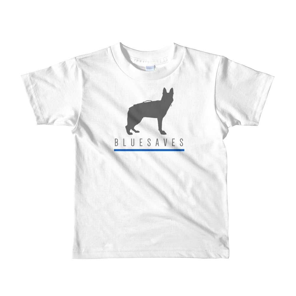 BLUE SAVES / K9 / Short sleeve kids t-shirt