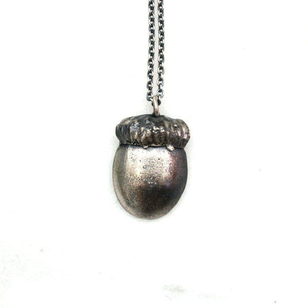 seed necklace: half acorn