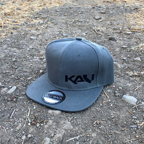 Kali State Flat Bill Hat - Grey/Black