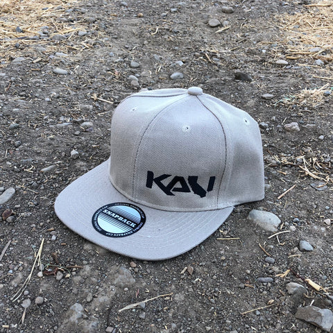Kali State Flat Bill Hat - Khaki/Black