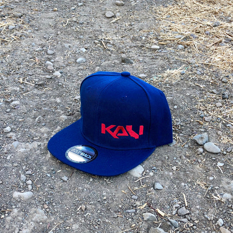 Kali State Flat Bill Hat - Navy/Red