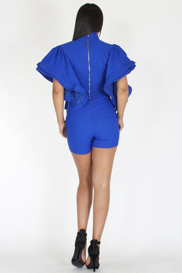 All Ruffles Romper - Anew Couture
