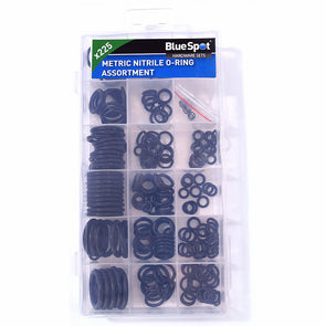 BlueSpot 225 Piece Metric Nitrile O-Ring Assortment