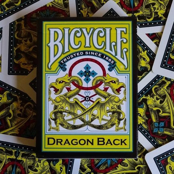 Buyworthy:Dragon Back Playing Cards Yellow Deck Bicycle Brand New Bicycle made in USA