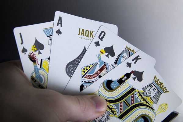 JAQK Black Playing Cards 3rd Edition Rare Collectable Wine Deck