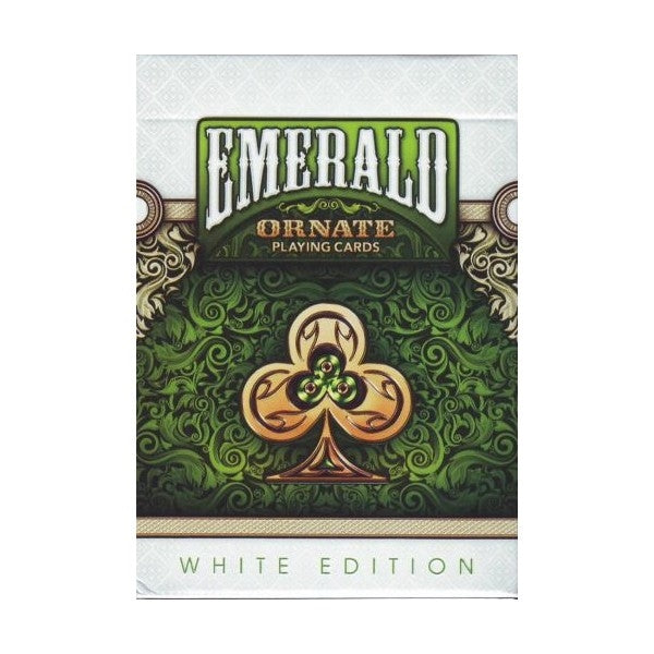 Ornate Playing Cards Emerald Unbranded Green White Edition