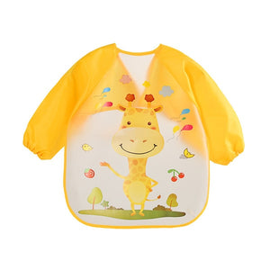 Toddler Long Sleeve Apron Bib - Jelly Belly Babies LLC.