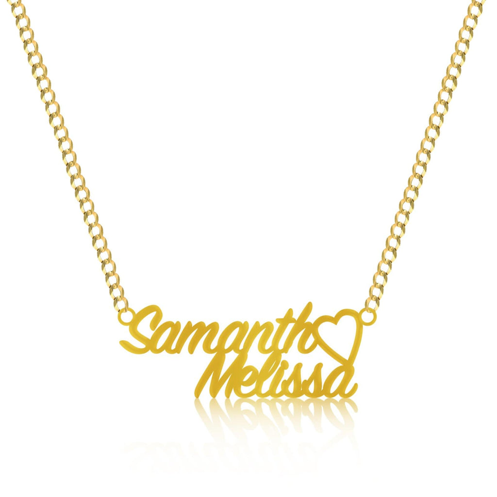 10K Yellow Gold SignPainter Name Plate Pendant