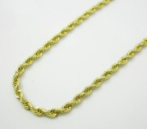 10K Yellow Gold 7MM Hollow Rope Chain Necklace Mens - Jawa Jewelers