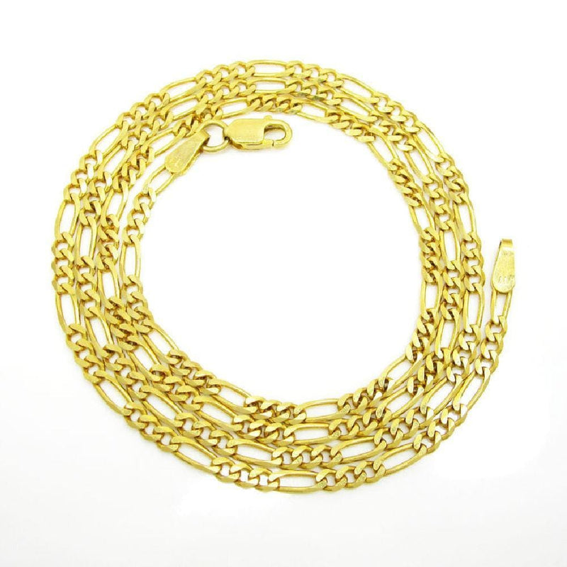 14K Yellow Gold 3MM Classic Figaro Chain & Bracelet, Chain, JJ-AG, Jawa Jewelers