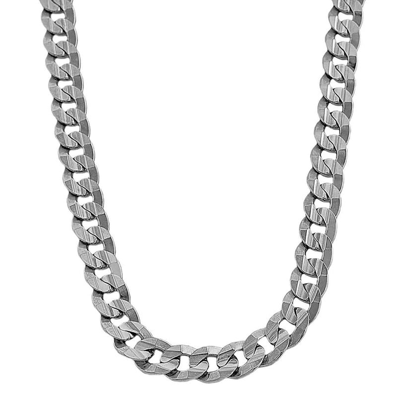 10K White Gold Men's 6MM Miami Cuban Chains & Bracelet - Jawa Jewelers