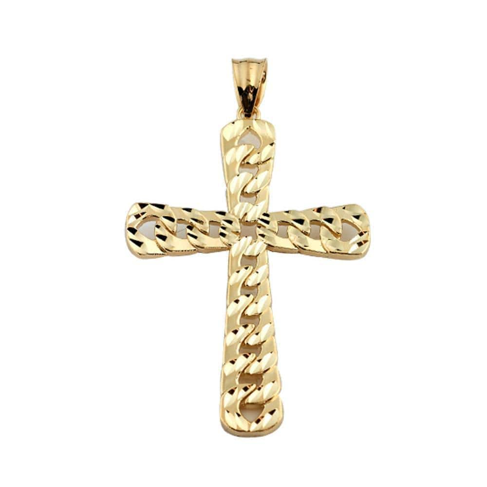 10K Yellow Gold 3.70 Grams Fashion Cross Pendent - Jawa Jewelers