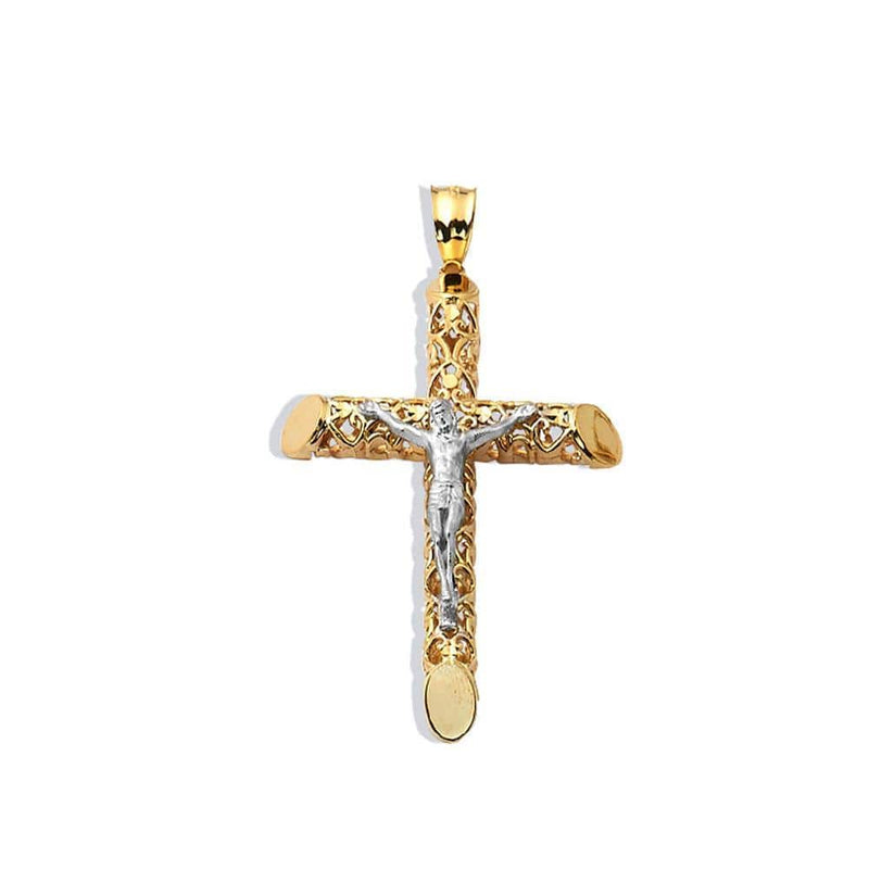 10K Yellow Gold 5.00 Grams Fashion Cross Pendent - Jawa Jewelers