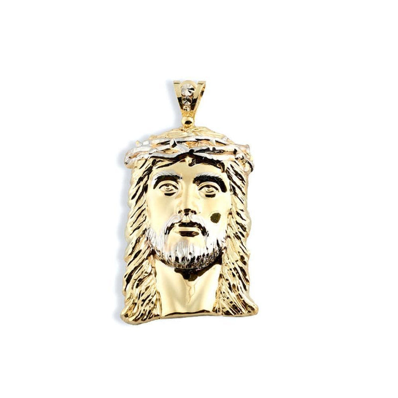 10K Yellow Gold 25.70 Grams Fashion Jesus Face Pendant - Jawa Jewelers
