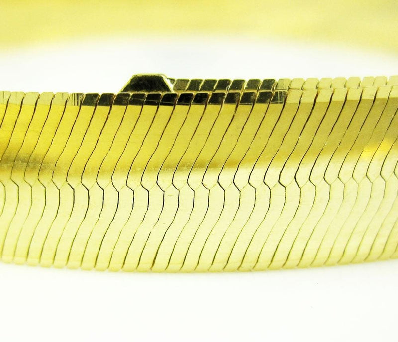"18MM 10K Yellow Gold Herringbone Bracelet 8"" - 9"" Inches, Bracelets, JJ-AG, Jawa Jewelers"