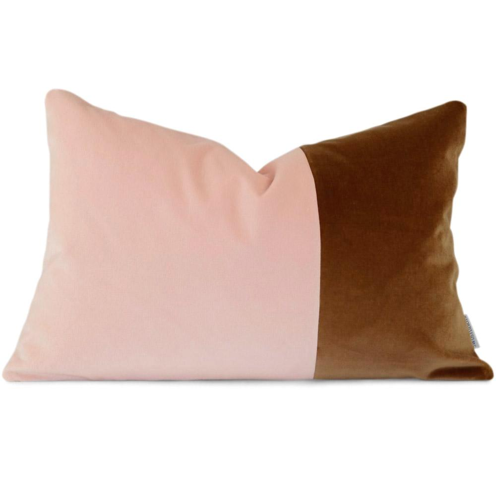 "INGRID Colour Block in Blush Nutmeg Giorgio -  Front View (Shown in 13"" x 19"")"
