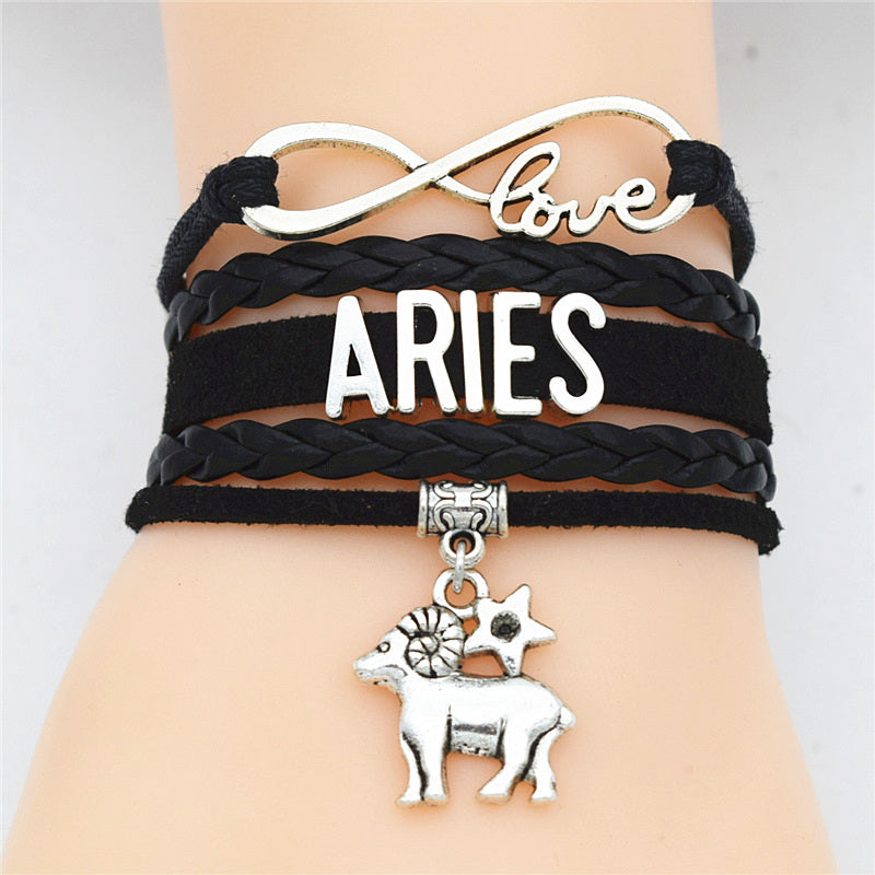 Zodiac Sign Charms Wrap Bracelet