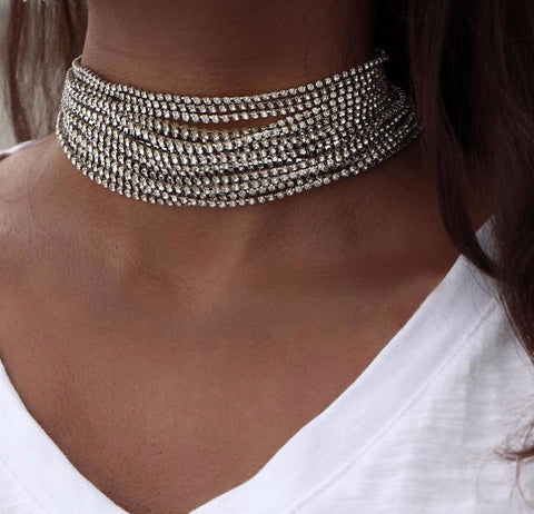 Multi Chain Choker Cheap Women Necklaces