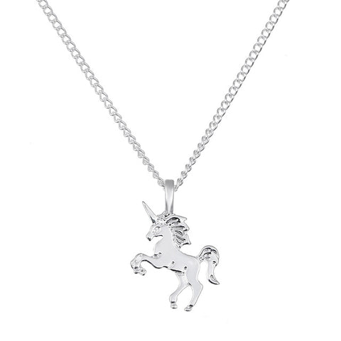 Magical Unicorn Plated Choker Pendant Necklace
