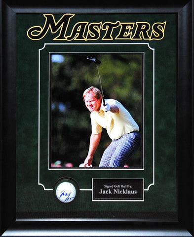 Jack Nicklaus Signed Golf Ball - Custom Framed