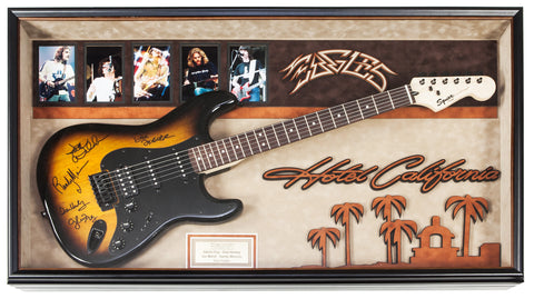 Eagles Signed Guitar Hotel California Custom Framed