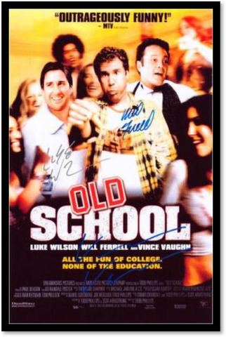 Old School  - Signed by Cast - Custom Framed Signed Movie Poster