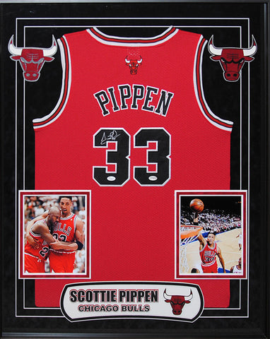 Scottie Pippen - Signed Chicago Bulls NBA Basketball Jersey