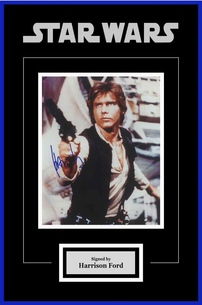 Star Wars - Signed Harrison Ford as Han Solo Movie Photo - Framed Artist Series