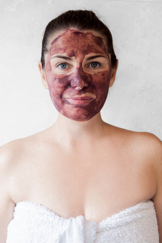 Atonement Face Mask Turns Purple from the Superfoods