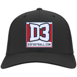 Flex Fit Twill Hat - D3Football.com