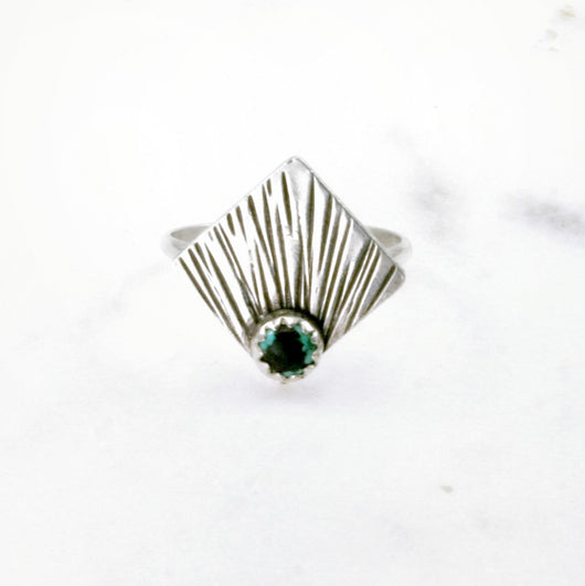 Sunburst Mini Ring - Square