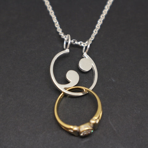 Semicolon Ring Holder Necklace