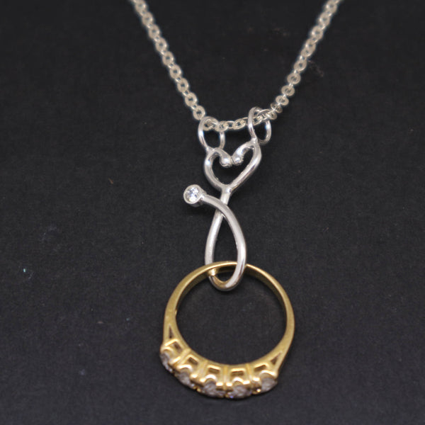Nurse Stethoscope Ring Holder Necklace
