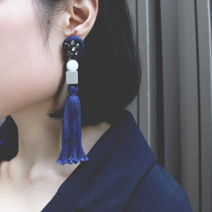 Handmade Fringed Earrings Indian Sparkling Bead Japanese Glass Bead Customizable