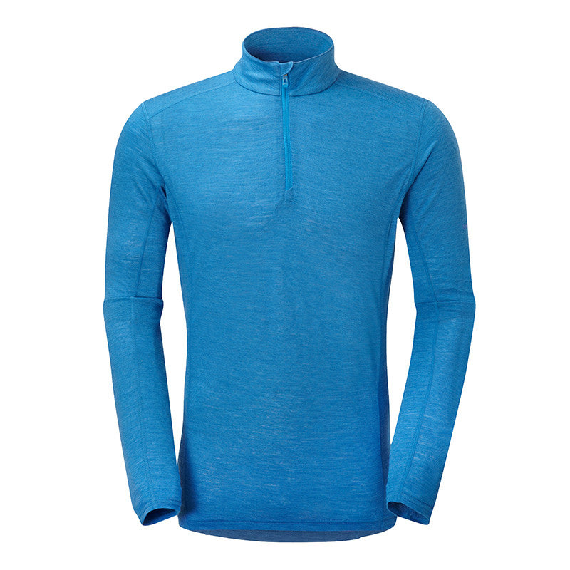 Montane-Men's Primino Zip Neck 140-Men's Next To Skin-Electric Blue-S-Gearaholic.com.sg