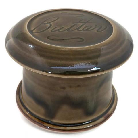 French Butter Dish - Gloss Moss - Butter