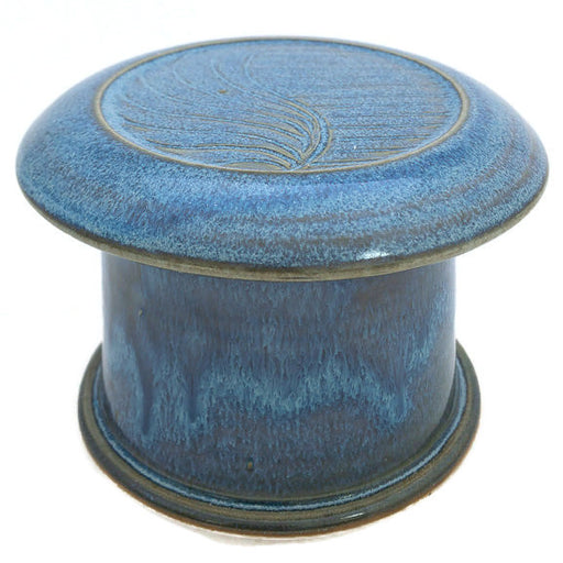 French Butter Dish - Blue Moon - Free Form