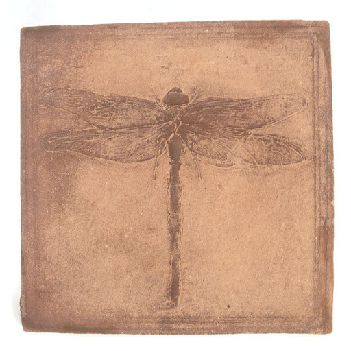 Cement Plaque - Dragonfly Tile - Ocher